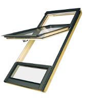 Okno o podwyższonej osi obrotu z naświetlem dolnym