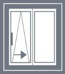 Schematy otwierania drzwi uchylno-przesuwnych