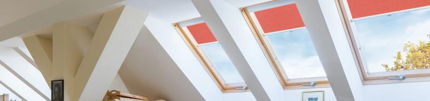 Persiana enrollable ARS, una adición popular a las ventanas de techo - FAKRO